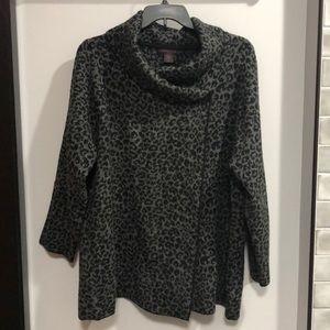 Christian Siriano Leopard Print Sweater